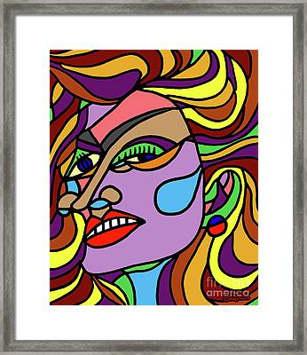 Color Me Beautifully Framed Print by Art by MyChicC