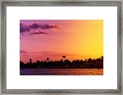 Color Me Cape Framed Print by Florene Welebny