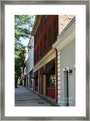 Framed Print featuring the photograph Color Me Main St Usa by Skip Willits