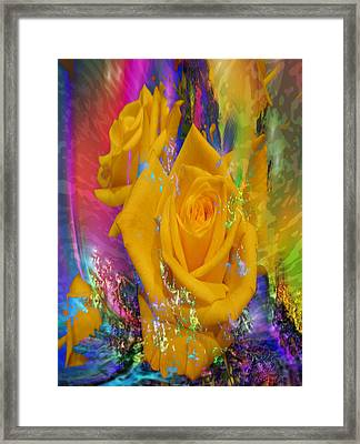 Color Me With Love Framed Print
