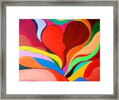 Color Mine With Love Framed Print by Charles  Jennison