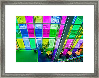 Color My Lunch Framed Print by Michel Emery