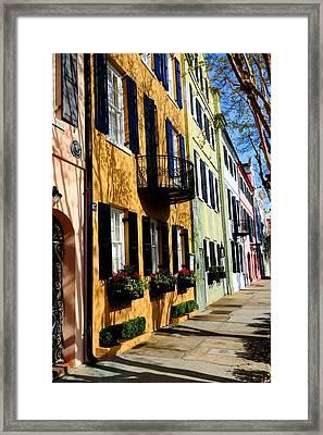 Color Of Charleston Framed Print