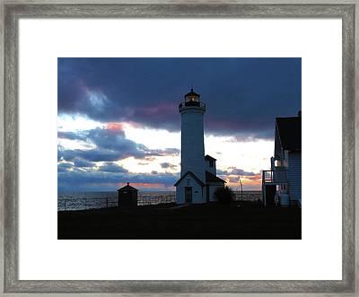 Color Of December, Tibbetts Point Lighthouse Framed Print
