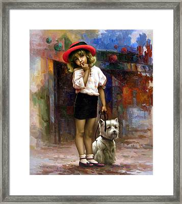 Color Of  Melody - Walk Framed Print
