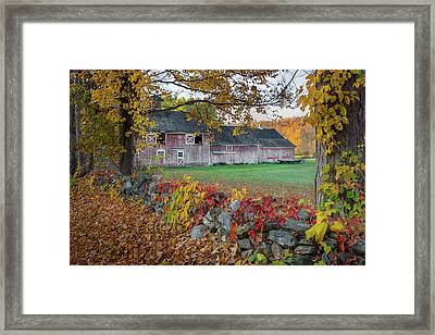 Color Of New England Framed Print by Bill Wakeley