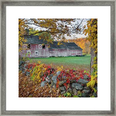 Color Of New England Square Framed Print