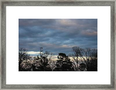 Color Of The Sky Framed Print by Lee Anderson