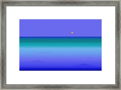 Framed Print featuring the digital art Color Of Water by Val Arie