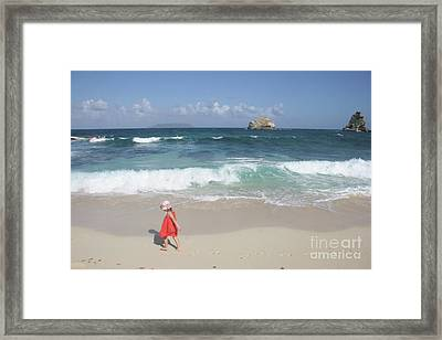 Color On The Beach  Framed Print by Clay Cofer
