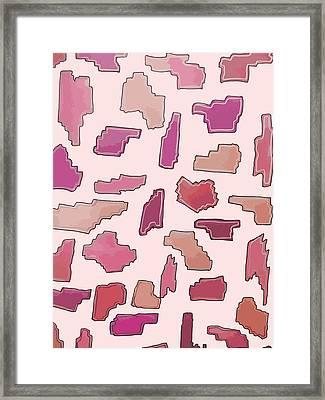 Color Pattern 2 Framed Print