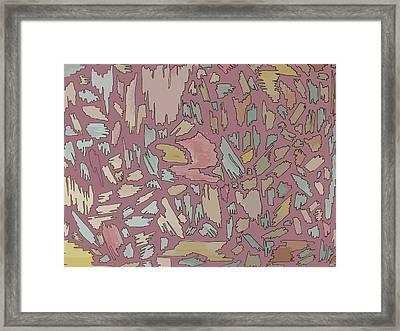 Color Pattern 4 Framed Print