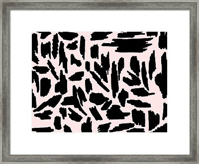 Color Pattern 5 Black Framed Print