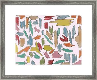Color Pattern 5 Framed Print