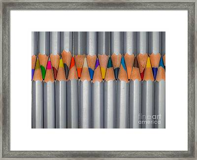 Color Pencils Framed Print by Anakin13