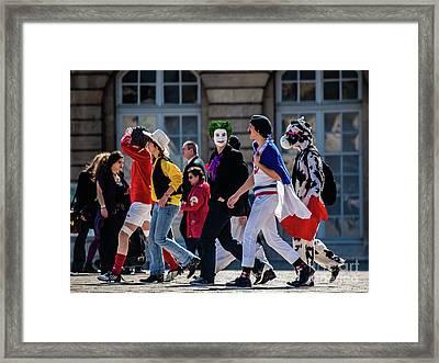Color People Framed Print