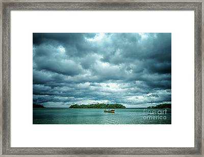 Color Play Before Storm Framed Print