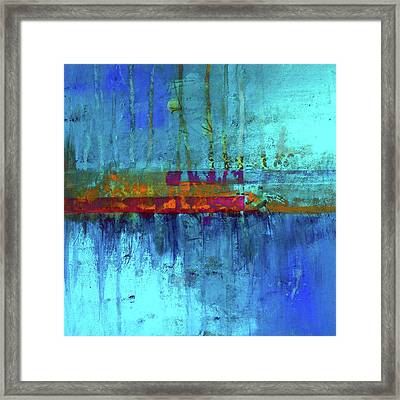 Framed Print featuring the painting Color Pond by Nancy Merkle