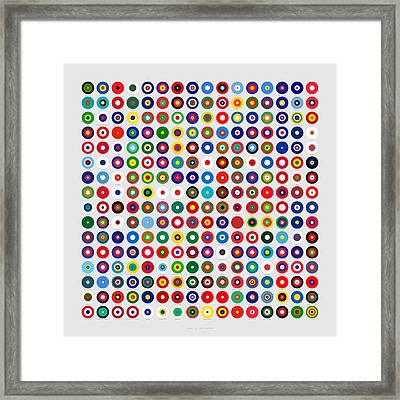 Color Proportions In Country Flags  Framed Print