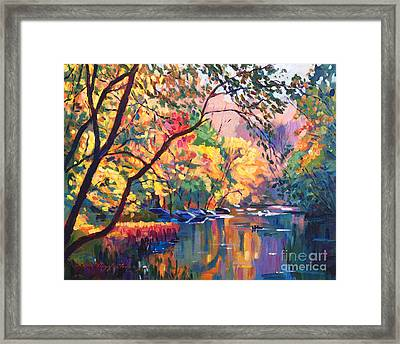 Color Reflections Plein Aire Framed Print by David Lloyd Glover