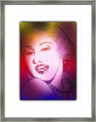 Color Rendition Of Marilyn Monroe #2 Framed Print