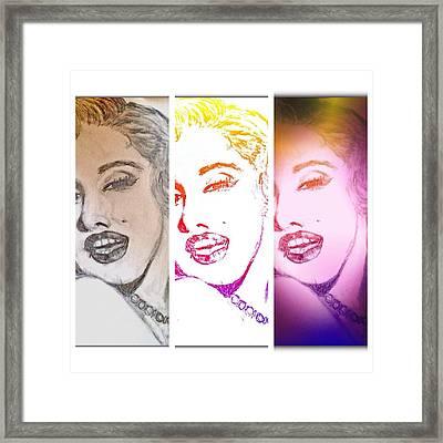 Color Rendition Of Marilyn Monroe #3 Framed Print