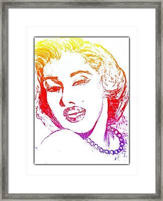 Color Rendition Of Marilyn Monroe Framed Print