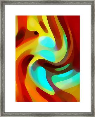 Color Rhythm Framed Print by Amy Vangsgard