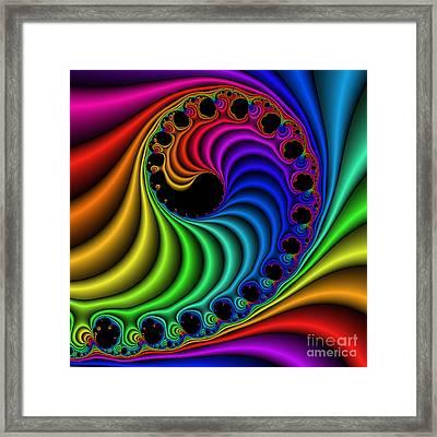 Color Ribs 116 Framed Print by Rolf Bertram