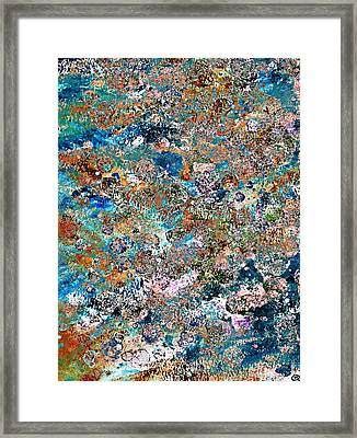 Color Splatter Framed Print by Frank Tschakert