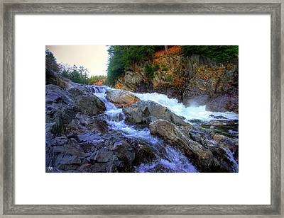 Color Steps At Livermore Falls Framed Print