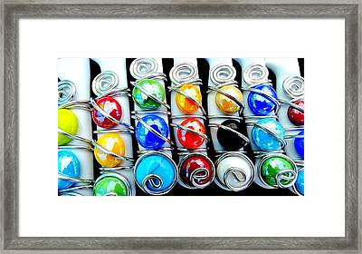 Color Stones Framed Print by Louis Meyer
