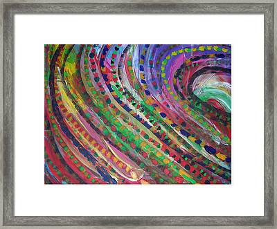 Color Storm Framed Print by Russell Simmons