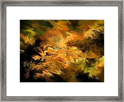 Color Storm Framed Print