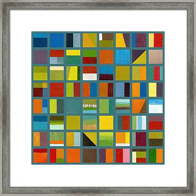 Color Study Collage 67 Framed Print by Michelle Calkins