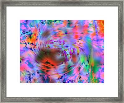 Color Tornado Framed Print