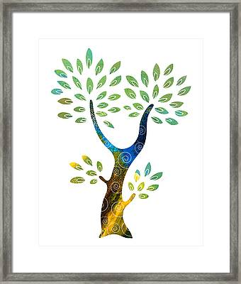 Color Tree Framed Print by Frank Tschakert