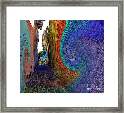 Color Undertow Framed Print by Ayesha DeLorenzo
