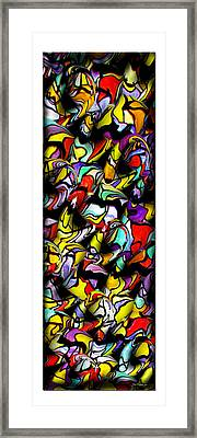 Color Unfolds Framed Print by Joan  Minchak