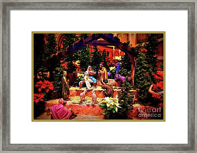 Color Vibe Nativity - Border Framed Print