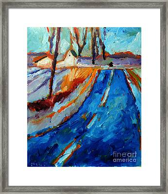 Color Vibrations At Minus 5 Centigrade Framed Print by Charlie Spear