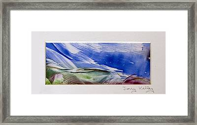 Color Waves Framed Print by Jerry Kelley