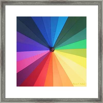 Color Wheel Framed Print by Denise Fulmer