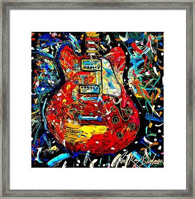 Color Wheel Guitar Framed Print