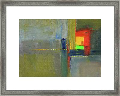 Color Window Abstract Framed Print by Nancy Merkle
