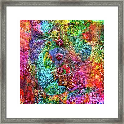 Color With Buttons Framed Print
