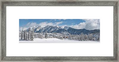 Framed Print featuring the photograph Colorad Winter Wonderland by Darren White
