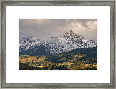 Colorado 14er Mt. Sneffels Framed Print by Aaron Spong