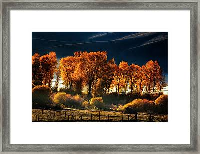Framed Print featuring the photograph Colorado Autumn Morning by Andrew Soundarajan