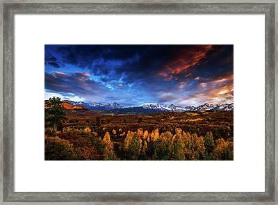 Colorado Autumn Panorama Framed Print